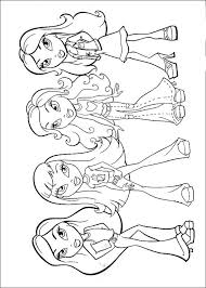 Coloring Pages Of Coloring Bratz Princess Coloring Pages In Conjunction With by Coloring Pages Of