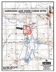Bozeman Montana Map by Harrison Lake Home Cabin Sites