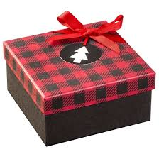 foil square ornament box with glitter lid assorted wondershop