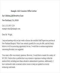 salary negotiation letter job offer letter 8 free sample example