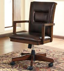 Office Rolling Chairs by Wooden Office Chairs With Casters U2013 Cryomats Org