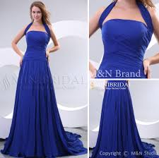 blue long bridesmaid gowns floor length sleeveless royal