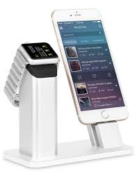 2 in1 nightstand aluminum charging stand dock station for iphone