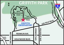 map to griffith observatory visiting