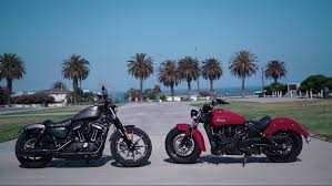 american indian car the great american 9k cruise off h d iron 883 vs indian scout