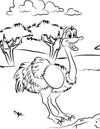 free printable ostrich coloring pages for kids