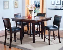 6 pc dinette kitchen dining room set table w 4 wood chair crown mark fulton 6 pc counter height table chair bench set