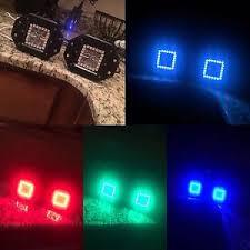 multi color led light bar flush mount led pods cubes with multicolor halos prebuilt rgb led