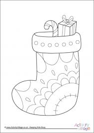 christmas stocking coloring pages christmas stocking colouring pages