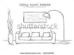 Home Interior Vector by Interior Office Roomvector Illustration Design Stock Vector