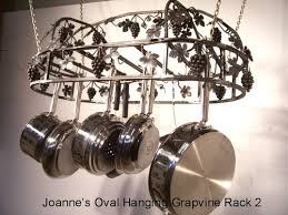 Grapevine Chandelier Hanging Grapevine Oval Pot Rack With Top Grape Vine