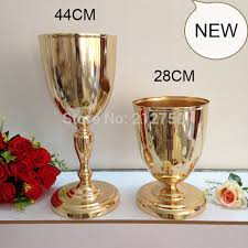 Cheap Gold Centerpieces by Popular Gold Wedding Cup Centerpiece Buy Cheap Gold Wedding Cup