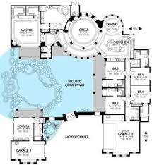 cool floor plans plan 16313md courtyard house plan with casita courtyard house