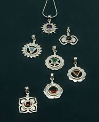 photo necklace pendants images Sterling silver chakra pendant with gemstones jpg
