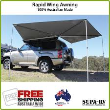 4x4 Awning 4wd Rapid Wing Wraparound Awning 100 Australian Made Wrap Around