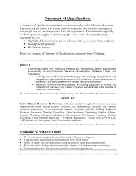 resume summary of qualifications management sales resume summary exles resume summary qualifications management
