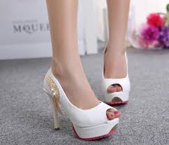 wedding shoes rhinestones in stock 2016 cheap peep toe rhinestones white bridal shoes 11 5cm