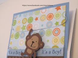 photo monkey baby shower invitation image