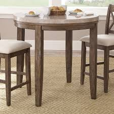 counter high dining room sets steve silver franco marble top round counter height dining table