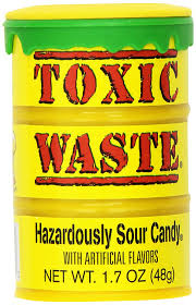 Where Can I Buy Candy Apple Amazon Com Toxic Waste Hazardously Sour Candy 1 7 Ounce Plastic