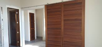 Faux Barn Doors by Louvered Doors