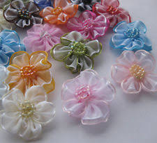 ribbon flowers ribbon flower appliques ebay