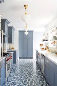blue kitchen tiles modern deco kitchen reveal emily henderson