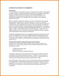 Resume Executive Summary Examples 7 Business Plan Executive Summary Example Farmer Resume Exam Cmerge