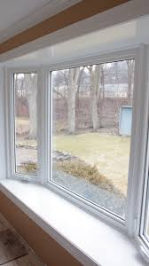 bay window vestal ny replacement windows johnson city ny this bay replacement window features two vinyl casement windows on each side bow and bay windows let a tremendous amount of needed light into a room and