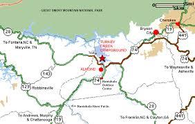 nantahala river map nantahala river via turkey creek campground n2backpacking com