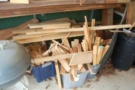 the garage out of way i plan on making a wall mounted lumber
