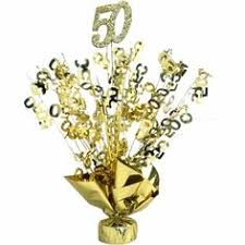 50th wedding anniversary centerpieces gold 50th anniversary