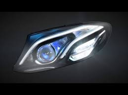 mercedes headlights mercedes benz multibeam led headls in the new e class mercedes