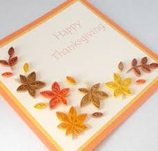 paper cards quilled thanksgiving card