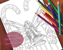 candy cane christmas fairy coloring page digi stamp fantasy