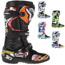 leather dirt bike boots alpinestars tech 10 boot motocross off road graphics sticker kit