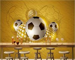 online get cheap bedroom football wallpaper aliexpress com beibehang 2017 new fashion personality fantasy fantasy art mural passion like fire football bedroom background papel