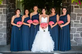 not the dresses but the colors coral and navy wedding coral