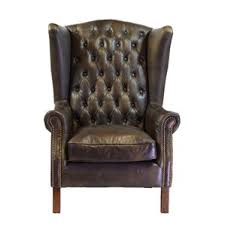 Vintage Brown Leather Armchair Wingback Leather Chairs You U0027ll Love Wayfair