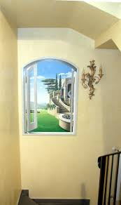 53 best trompe l oeil my works images on pinterest murals mural finta finestra stencil artstencilsmural