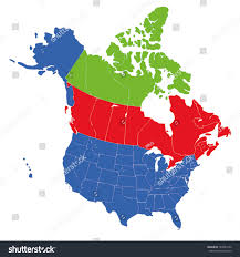 us map states hawaii us map of states and canada stock vector map usa states canada