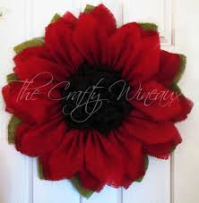 rich burlap poinsettia wreath burlap sunflower wreath the