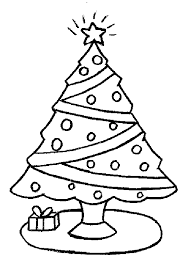 coloring page of christmas tree with presents christmas tree star drawing at getdrawings com free for personal