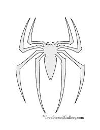 spiderman symbol stencil free stencil gallery