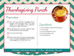 thanksgiving drinks non alcoholic recipes for punch