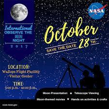 international observe the moon night event oct 28 at wallops nasa
