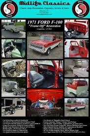 Classic Ford Truck Replacement Parts - midlife classics 1971 ford f 100 restoration
