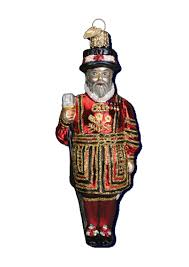 world ornaments beefeater glass ornament 24142
