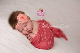 newborn hair bows orange yellow bows pink paisley bowtique