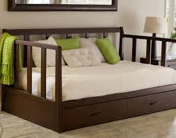 Daybed In Living Room Daybed Elegant Dark Wood Daybed 36 For Your Modern House With